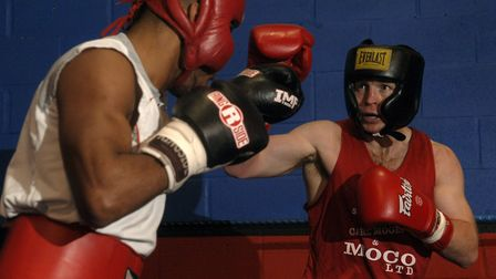 Jon Thaxton, in his fighting days, sparring with Junior Witter. Picture: Archant