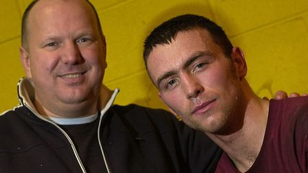 Lowestoft's Danny 'Boy' Smith, right, with trainer Graham Everett in 2004. Picture: Archant