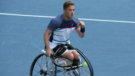 Alfie Hewett won the men's doubles but was narrowly beaten in the singles final at the US Open final