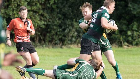 James Knight in action during North Walsham's win over Saffron Walden. Picture: Hywel Jones