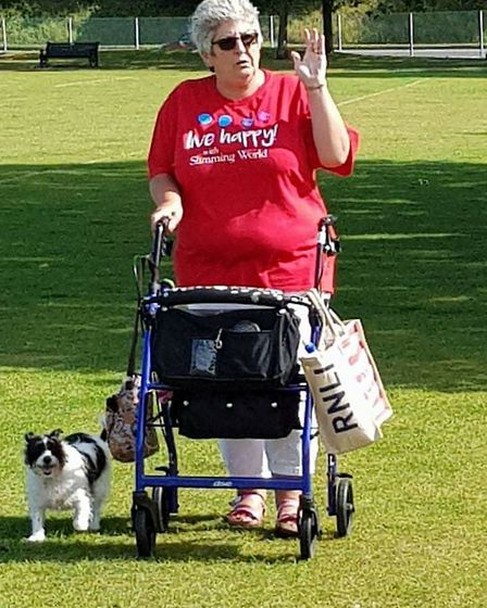 The Walk All Over Cancer with Slimming World fundraiser at Normanston Park in Lowestoft. Picture: Co