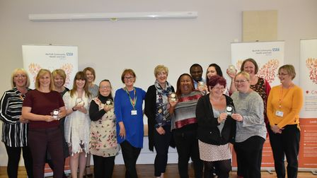 Staff from Norfolk care homes celebrate Six Steps programme accreditation. Photo: NCHC