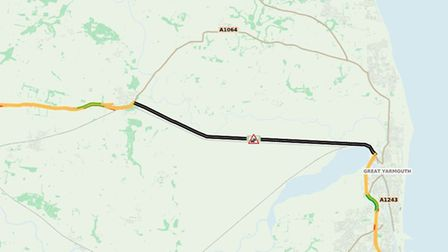 """Traffic is """"much slow than expected"""" according to a map by Highways England, as drivers crawl along"""