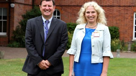 Kevin Grieve, principal at Paston Sixth Form College, and Corienne Peasgood, principal of City Colle