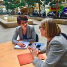 Norwich North MP Chloe Smith meeting with Sarah Newton. Picture:CHLOE SMITH