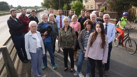 Residents and workers at Newmarket Road, Cringleford, concerned at the possible changes to the exist