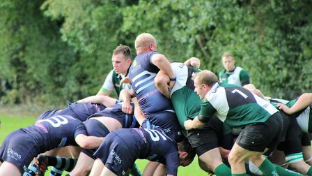 Action from Saturday's hard-fought clash between Norwich Union and Fakenham. Picture: Russ Clarke