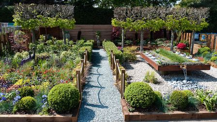 The display garden at the Notcutts Garden Centre in Daniels Road, Norwich.Picture: Keith Whitmor