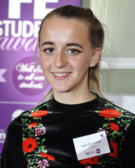 Leah Cranswick, who won an award at City College Norwich's Further Education Awards. Picture: City C