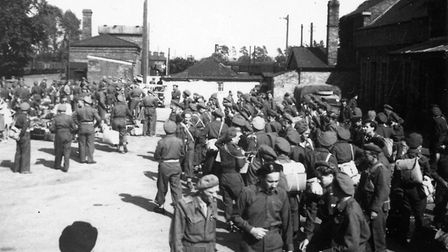 Units of the Polish 2nd Corps coming into Brandon Station in 1947. Picture: V Lukaniuk