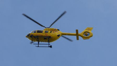 Air ambulance in Cromer. Photo: Paul Russell