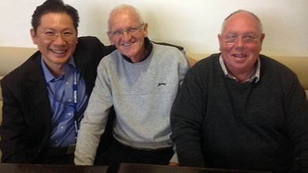 From left, Edward Cheong, Sammy Morgan and John Pitts. Photo: NNUH