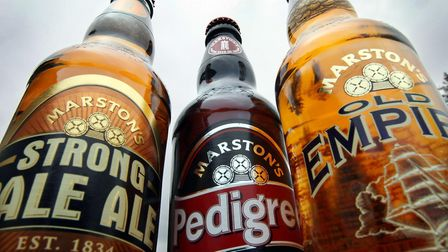 Marston's products at their brewery. Photo: David Jones/PA Wire