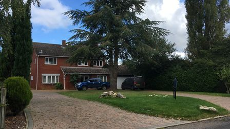 The house on Barford Road, Marlingford, where an internal wall fell on top of its owner. The man was