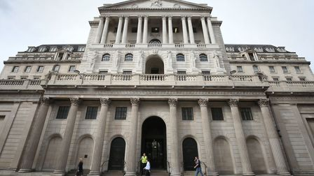 The Bank of England in London. Picture: Philip Toscano/PA Wire.