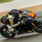 Thetford's Ryan Vickers claimed his firstSuperstock 600 podium. Picture: Barry Clay