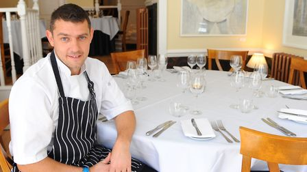 Chef Roger Hickman at his restaurant at Upper St Giles. Picture: Denise Bradley