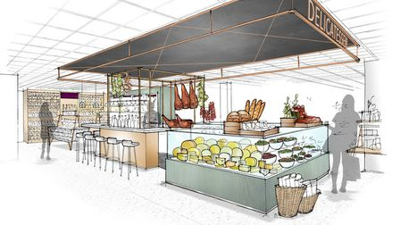An artist impression of Downstairs at Jarrold in Norwich.