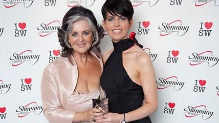 Margaret Miles-Bramwell OBE Slimming World Founder and Chairman with Hayley Hooper. Picture: Slimmin
