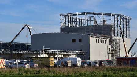 The Snetterton Renewable Energy Plant during its construction. Picture: Sonya Duncan