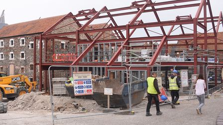 The building work of Wells Maltings with the extension being built. Picture: DENISE BRADLEY