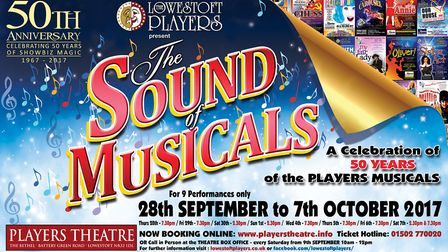 'The Sound of Musicals' is set to run from September 28 to October 8. Picture: Courtesy of Lowestoft