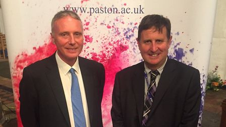 Bill Watkin, chief executive of Paston Sixth Form College association, and Kevin Grieve, college pri