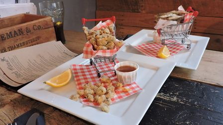 The cockle popcorn and crispy whitebait arrived in unexpected fashion. Picture: Thomas Chapman