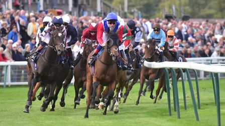 The start of the 3.35pm trace, won by Hope Is High, ridden by Silvestre De Sousa.Picture: Nick But