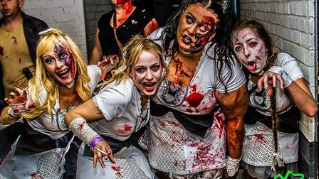 Zombie Fest last year, make sure you get your tickets. Picture: MARK BARLEY/ ZOMBIE FEST