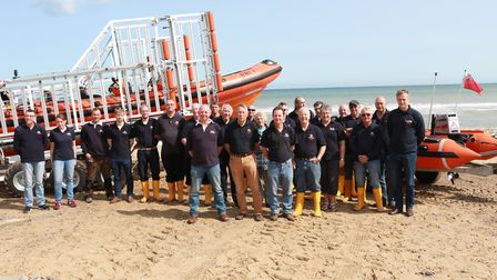 The whole crew at RNLI Happisburgh. Picture: RNLI Happisburgh