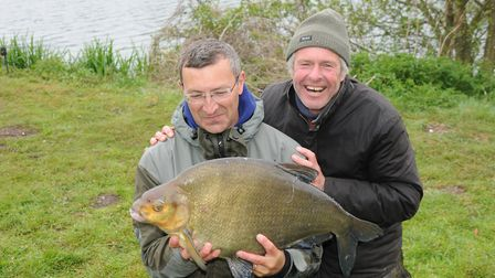 John Bailey and great al JG with a Goliath bream of 16lb 3oz. Picture: John Bailey
