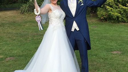 Laura and Grant Rix on their wedding day. Picture: Fran Salmons