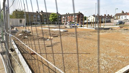 Building work is on hold at the new drive-through Burger King in Lowestoft. Picture: Nick Butcher.