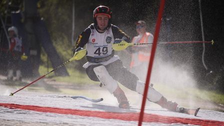 Competitors take part in the national ski slalom races at Norfolk Snowsports Club. Picture: DENISE B