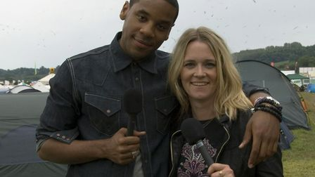 Reggie Yates (left) will be heading to Norwich to discuss his new book with Edith Bowman (right) at