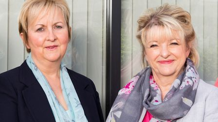 Caroline Blake, left, and Shirley Edwards remain at the helm of their company. Picture: Adrian Frank