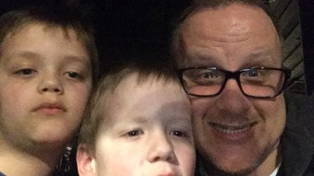 Owen Watkinson, with his sons Ben (left) and Daniel, set up a fund to buy Daniel a new nebuliser aft