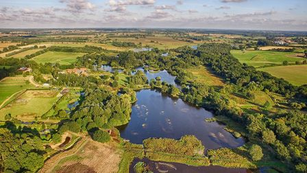 An aerial view of the Upper Wensum Valley. Picture: Pensthorpe Conservation Trust.