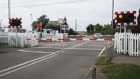 The crossing at Watlington, near King's Lynn, where the near-miss occurred. Picture: Chris Bishop