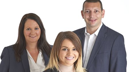 From left, Jo Pyman, Kelly Goodman and Jamie Playford of Leading Corporate Recovery. Picture: Leadin