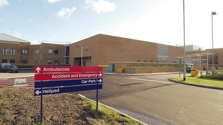 The Accident and Emergency entrance at the new Norfolk and Norwich Hospital. Picture: Submitted