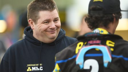 Dale Allitt made a surprise return to the King's Lynn Stars pits for the meeting against Poole. Pict