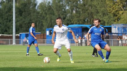 Jake Reed in FA Cup action against Bedford Town. Picture: Shirley D Whitlow