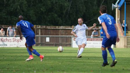 Freddie Westlake in action against Bedford Town. Picture: Shirley D Whitlow