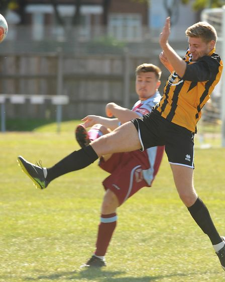 Joel Glover in action for Great Yarmouth. Picture: DENISE BRADLEY