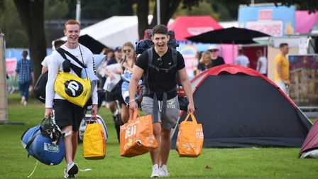 Campers arrive and the stage is set for a weekend at Sundown Festival. Picture : ANTONY KELLY