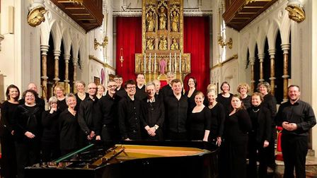 London-based singing group the Hanover Choir, who will be performing at St Peter's Church, Sheringha