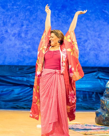 Jodie Prenger as Shirley Valentine as the 30th anniversary production comes to Norwich. Photo: Manue
