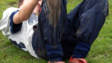 An injury at school. Picture: Adrian Judd
